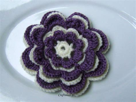 crochet tutorial crochet flower tutorial craft ideas