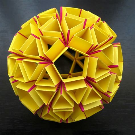 dodecahedron origami polyhedra origami snub dodecahedron polyhedra