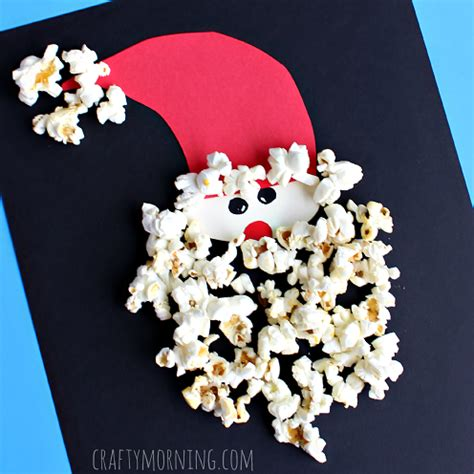 santa claus crafts popcorn santa claus craft for crafty morning
