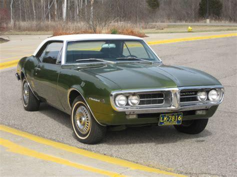Pontiac 389 Engine For Sale by 1967 Pontiac Firebird Coupe Green White Vinyl Top 389