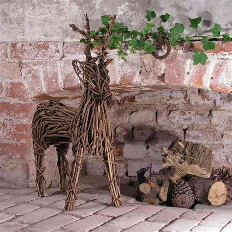 wicker reindeer decorations buy wicker reindeer the worm that turned revitalising