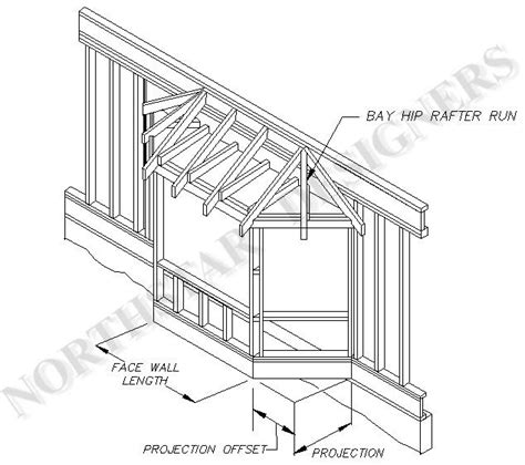Bow Window Construction Detail plan for bay window addition assembly drawings or