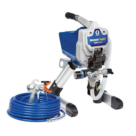 home depot graco magnum x7 airless paint sprayer graco magnum prox17 stand airless paint sprayer 17g177