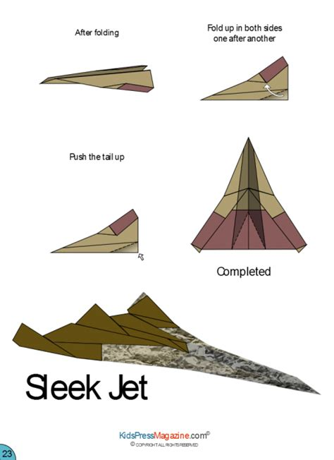 how to make origami jet paper airplane sleek jet advanced
