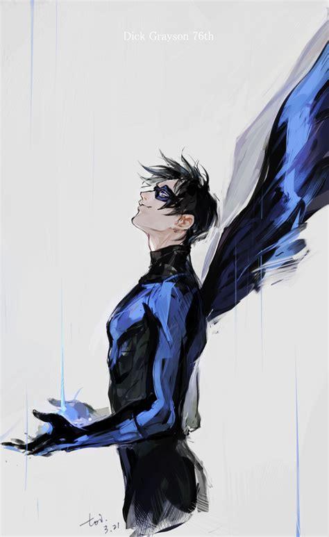nightwing hairstyle nightwing zerochan anime image board