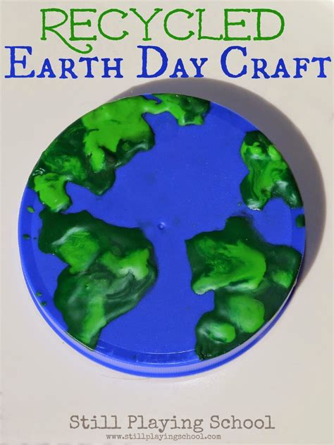 earth day recycled crafts for no mess painting in a bag earth craft still school
