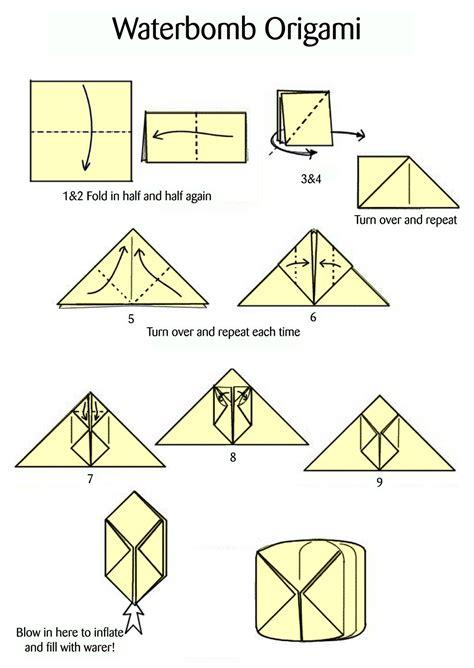 origami water bomb pdf summer on a shoestring jiraffe