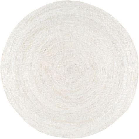 8 jute rug nuloom rigo jute white 8 ft x 8 ft area rug