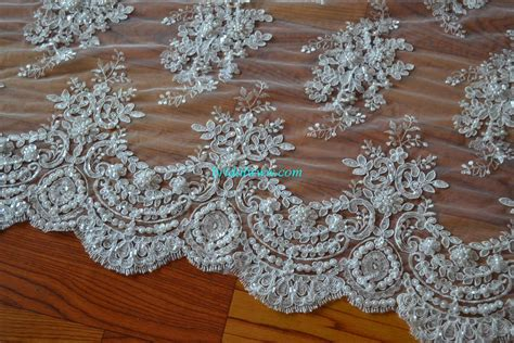 how to bead on fabric blf001 wedding lace fabric exquisite beading bridal www