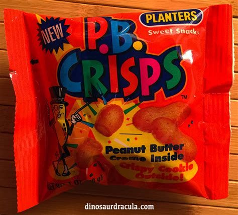 planters peanut butter crisps opening a pack of p b crisps from 1993 dinosaur dracula