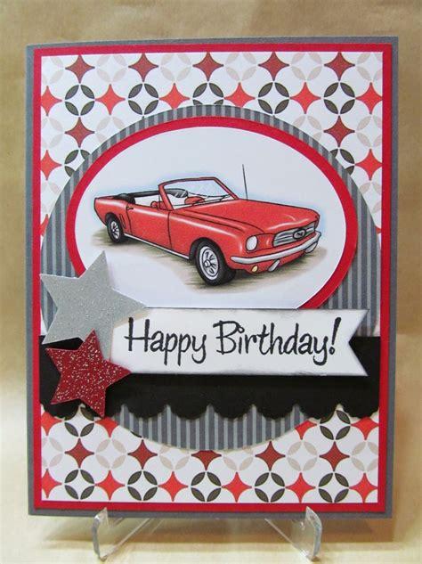 how to make a car card savvy handmade cards classic car birthday card