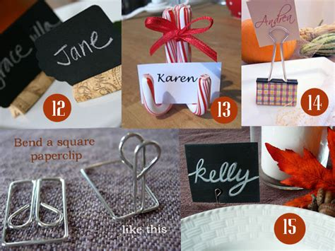 how to make place cards 15 easy to make place card ideas