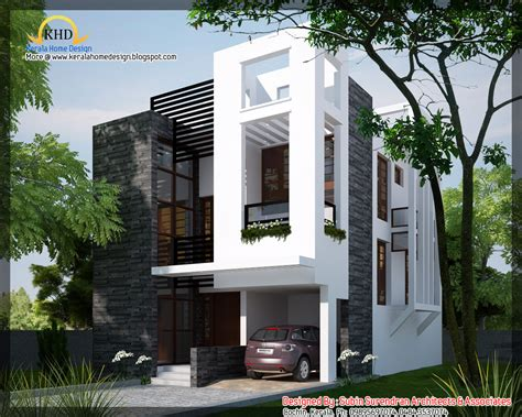 modern house blueprints modern contemporary home 1450 sq ft kerala home design and floor plans
