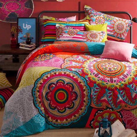 moroccan style bedding sets pleine reine taille 100 coton boh 232 me boho style color 233