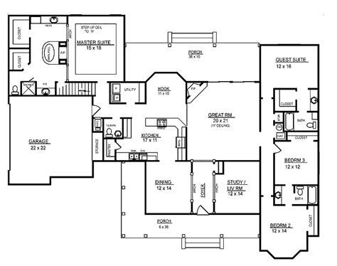 4 bedroom 4 bath house plans 4 room house plans home plans homepw26051 2 974 square 4 bedroom 3 bathroom
