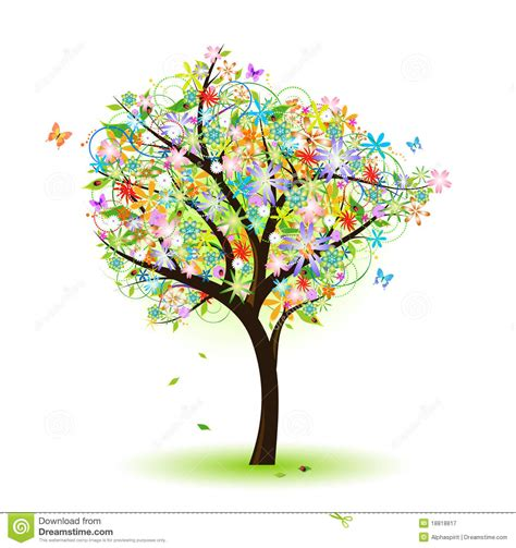 colorful tree colorful tree royalty free stock photography image 18818817