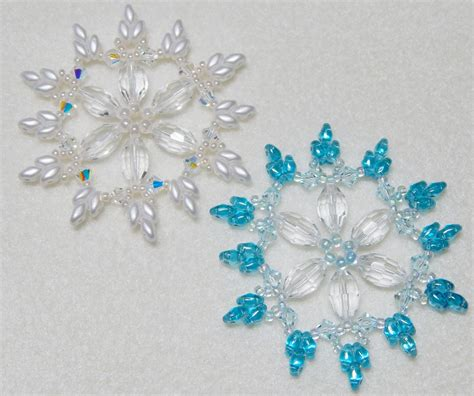 beaded snowflakes snowflake beaded ornaments images