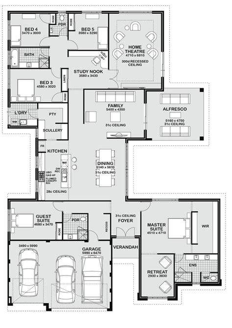 floor plans 5 bedroom house floor plan friday 5 bedroom entertainer floor plans