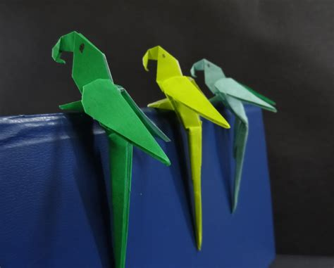 origami parrot origami bird tutorial on how to fold an origami paper