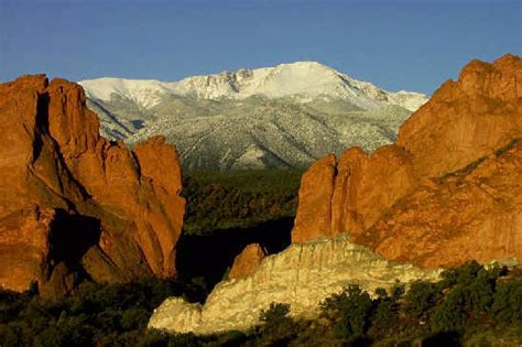 Garden Of The Gods To Pikes Peak Pikes Peak And Garden Of The Gods By Cohskr Photo