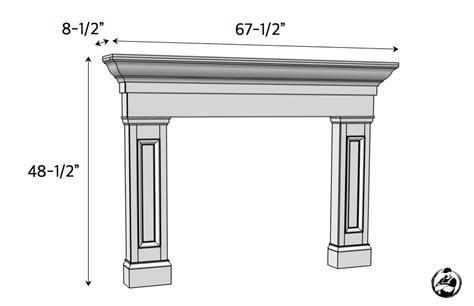 fireplace mantel woodworking plans faux fireplace mantel surround 187 rogue engineer