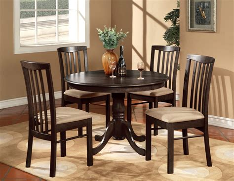 kitchen and dining furniture 5pc 42 quot kitchen dinette set table and 4 wood or upholstered chairs walnut ebay