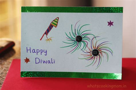 how to make diwali card handmade cards for diwali whats cooking