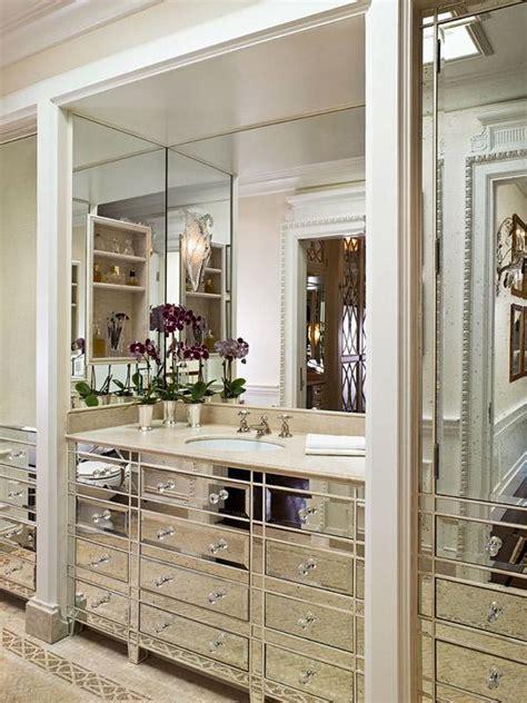 mirrored bathroom vanity cabinets mirrored bathroom vanity transitional bathroom