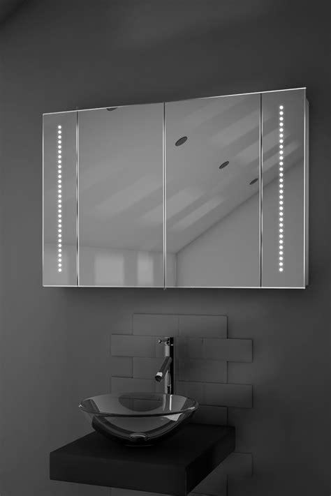 led illuminated bathroom mirrors led illuminated bathroom mirror cabinet with sensor