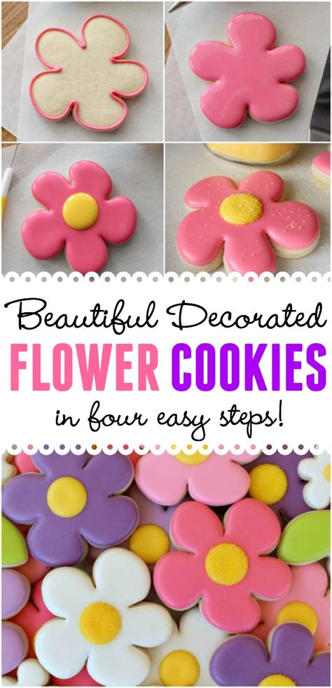 how to decorate cookies for decorated flower cookies a free tutorial