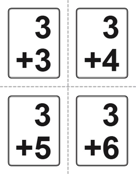 how to make math flash cards addition flash cards