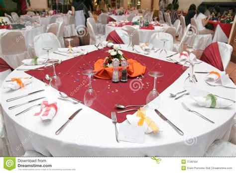 banquet table setup restaurant table setup stock images image 7746164