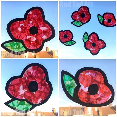 poppy crafts for poppy suncatchers for preschoolers ted s