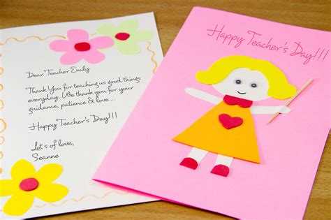 card ideas for teachers day how to make a s day card 7 steps with