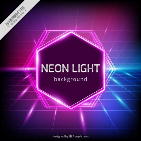 neon lights geometric background with neon lights vector free