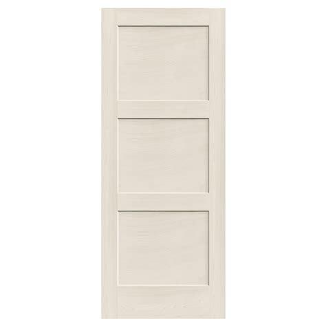 solid interior door slab reliabilt 910129 3 panel solid wood interior slab door