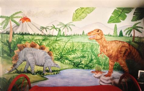 dinosaurs murals walls dinosaur wall murals by colette reptile wall murals