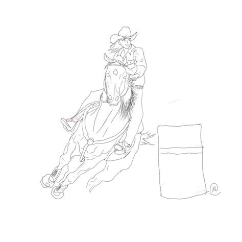 barrel racing coloring pages