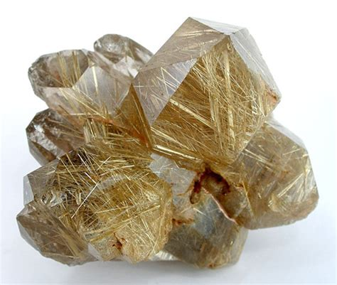 rutilated quartz lustrous rutilated quartz cluster gemstone image
