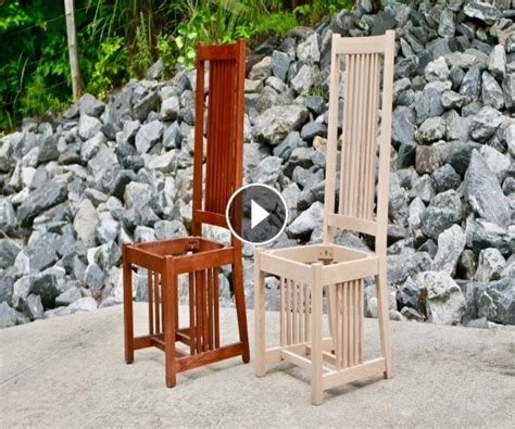 arts and crafts woodworking woodworking 187 how to build a dining chair part