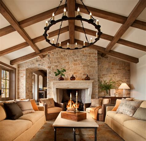 French Style Home Traditional Family Room San