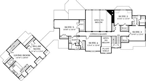 house plans with attached guest house luxury with separate guest house 17526lv 1st floor