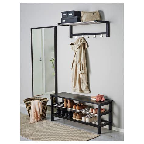 ikea bench with storage tjusig bench with shoe storage black 108x50 cm ikea