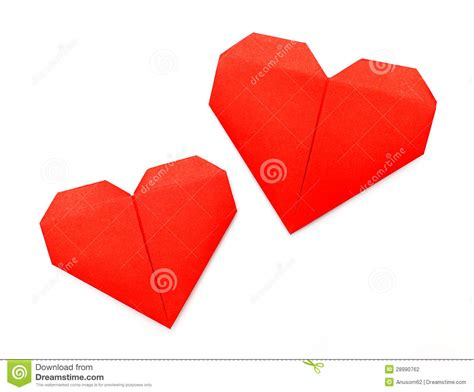 paper hearts origami origami paper stock photography image 28990762