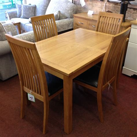oak extending dining table and 4 chairs wharfdale extending oak dining table with 4 chairs