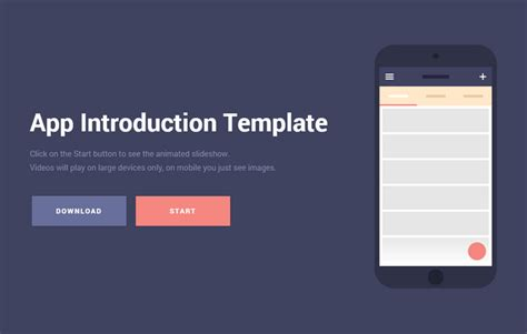 free download mobile app introduction template web
