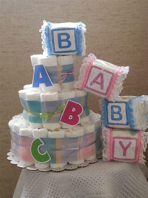 how to make cake centerpieces 3 tier cake abc alphabet baby shower gift