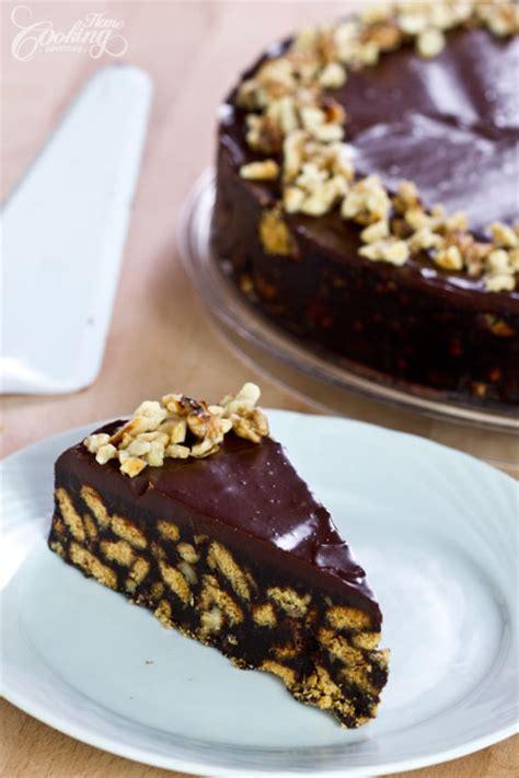 chocolate biscuit cake no bake chocolate cake recipe dishmaps