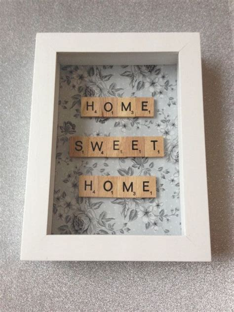 fe scrabble home sweet home scrabble word frame new home by