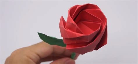 rosa origami how to fold a lifelike origami for s day